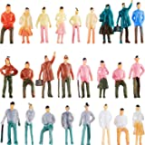 100 Pieces People Figurines 1:75 Scale Model Trains Architectural Plastic People Figures Tiny People Sitting and Standing for