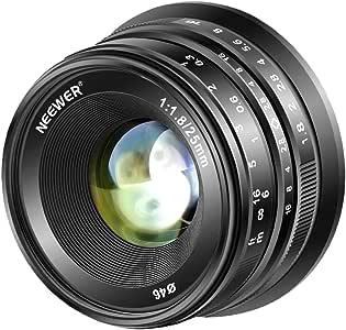 Neewer 25mm f/1.8手動フォーカスプライム固定レンズ 全金属構造 Fujifilm APS-CデジタルミラーレスカメラXPro2 XE3 XH2 X100F X100T X100S XH1 XF2 XPro1用 (黒)