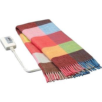 広電(KODEN) 洗える 電気ひざ掛け毛布 オレンジ 140×82cm CWS-H143D-5