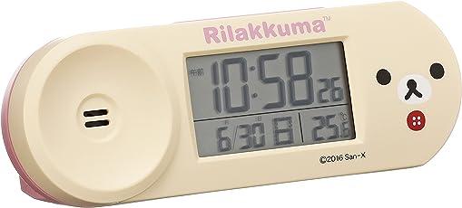 セイコー クロック 目覚まし時計 Rilakkuma リラックマ 電波 デジタル 大音量