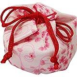 まつみ工芸 日本製 お手玉 巾着入 桜柄 白 5個入 和風 お土産