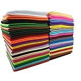 カラフル 40枚 フェルト DIY手芸用 生地 柔らかいタイプ 選べる サイズ 1.5mm厚さ (30cm x 30cm)