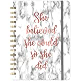 """Ruled Notebook/Journal - Lined Journal with Premium Thick Paper, 8.5"""" X 6.4"""", College Ruled Spiral Notebook/Journal, Banded w"""