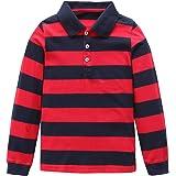 Moon Tree Boys Polo Shirt Kids Cotton Long Sleeve T Shirts