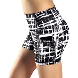 Munvot Women's Active Yoga Running Shorts Workout Tights Shorts with Side Pockets