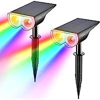 【オリジナル】Linkind イルミネーションライト 8色点灯 ソーラー充電 明暗センサー 屋外 ガーデンライト 自動点…