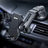 IPOW Car Phone Mount Holder Hands Free Car Phone Holder Dashboard Gravity Cell Phone Holder Mount with Auto Retractable Clamp