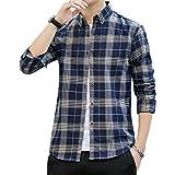 シャツ メンズ チェックシャツ 長袖 カジュアル 綿 レギュラーフィット オックスフォードシャツ 春 秋 冬