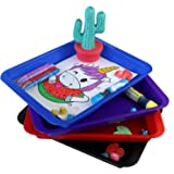 Activity Plastic Tray - Art + Crafts Organizer Tray, Serving Tray, Great for Crafts, Beads, Orbeez Water Beads, Painting (Tra