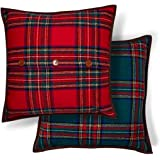 Besalily Welsh Reindeer Series Classic Scottish Plaid Throw Pillow Case Cushion Cover 45x45cm Christmas Decoration