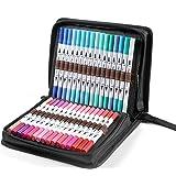 100 Colors Art Markers Set, Ohuhu Dual Tips Coloring Brush Fineliner Color Marker Pens, Water Based Marker for Calligraphy Dr
