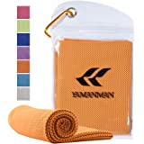 """Yamanman Whale Song Cooling Towel, 40""""x12"""" ice Cooling Towels for Neck, Stay Cool with Microfiber Towel for Yoga, Sport, Runn"""