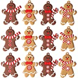 ARTEM Gingerbread Man Ornaments Gingerman Doll Hanging Charms Clay Figurine Ornaments for Christmas Tree Pendant Decoration,