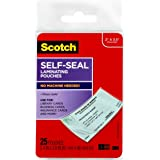 Scotch Self-Sealing Laminating Pouches for Business Cards LS851G