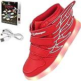 Shinmax Fiber Optic LED Shoes, Light Up Shoes Women Flashing Luminous Trainers Festivals, Christmas Party