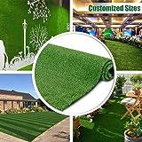 Petgrow リアル 人工芝 ロール 芝生 芝丈10mm (1×5m) グリーン 緑 耐UV インテリア 庭 壁装飾…