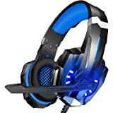 BlueFire 3.5mm Gaming Headset for Playstation 4 PS4 Xbox One Games Tablet Laptop, Over Ear Headphone with Mic and LED Light f