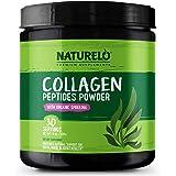 NATURELO Collagen Peptides Powder - Best Supplement for Skin, Hair & Joint Health - Organic Spirulina - 14 Amino Acids - Gras