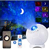 Football LED Star Projector Light,ALED LIGHT 4 in 1 Ocean Wave Moon Star Light with IR Remote Controlled, Bulit-in Bluetooth