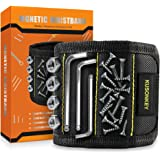 Magnetic Wristband, Kusonkey Tool Belt with 15 Powerful Magnets for Holding Screws/Nails/Drill Bits, Versatile Christmas Tool