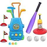 HanShe Golf Toy,Baseball Toy,Kids Golf Set with 6 Balls,Baseball Set with 3 Balls,Golf for Kids,Baseball Toddler,Toddler Golf
