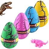 YKL WORLD Hatching Growing Dinosaur Toys, Magic 4 Pack Large Size Grow Dinosaurs Egg That Hatch in Water Easter Dino Eggs Par
