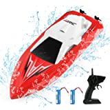 JJRC RC Boats for Pools and Lakes Remote Control Boats for Kids Adults 2.4Ghz Radio Controlled Boat Self Righting Rechargeabl