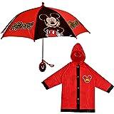 Disney Little Boy's Mickey Mouse Slicker and Umbrella Rainwear Set