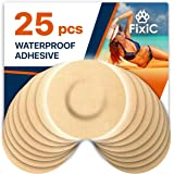 Fixic Adhesive Patches 25 Pack - ENLITE - Guardian - Best Waterproof Adhesive Patches - Round - Pre Cut - TAN Color - No Hole