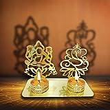 Lakshmi Ganesha (Ridhi Shidhi) Diwali Shadow Diya. Deepawali Traditional Decorative Diya in Laxmi Ganesh Shape for Home/Offic