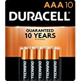 Duracell - CopperTop AAA Alkaline Batteries - long lasting, all-purpose Triple A battery for household and business - 10 coun