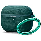 SPIGEN Urban Fit Hard Fabric Slim Cover Skin Designed for Apple AirPods Pro Case - Midnight Green