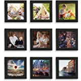 Home Margo, 4x4 Frames, Picture Frame Instagram Photo Collage Frame, Set of 9, 4 Inch Square Small Picture Frames