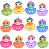 12 PCs Duck Squirters Prefilled Easter Eggs, Easter Basket Stuffers for Toddlers, Easter Egg Fillers, Bath Toys Party Favors