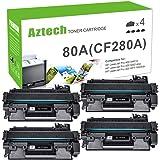 Aztech Compatible Toner Cartridge for HP 80A CF280A 80X CF280X Tonrer for HP Pro 400 MFP M425dn M425dw HP Laserjet Pro 400 M4