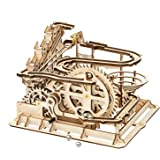 ROBOTIME Marble Run Game DIY Waterwheel Coaster Wooden Model Building Kits Assembly Toy  Children Adult