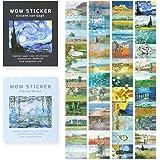 モノライク ワウ ステッカー ゴッホ + モネ Wow Sticker Gogh+Monet set - 可愛いステッカー、ダイアリーデコ、ミニスティッカー、ステッカーセット
