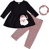 3Pcs Kids Baby Thanksgiving Clothes Pumpkin T-Shirt Top Dress+Pants+Headband Outfit Set Winter