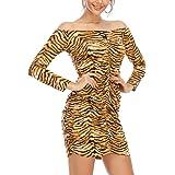 Haola Women's Sexy Casual Long Sleeve Short Dress Mini Dress