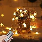 LED Fairy Lights USB Globe Ball String Lights with Remote Christmas light 33Ft 100LED Children's Light Decor for Indoor Bedro