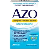 AZO Complete Feminine Balance Daily Probiotics for Women | 30 Count | Clinically Proven to Help Protect Vaginal Health | Clin