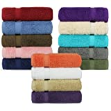 Luxury Hotel & Spa Towel 100% Genuine Turkish Cotton (Wash Cloth - Set of 12, Variety Pack)