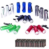 EverBrite Mini LED Flashlight 18-pack Set - Portable Flashlights Ideal for Camping, Night Reading, Cycling, BBQ, Party, Festi