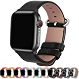 Fullmosa 15 Colors For Apple Watch Bands, Yan Calf Leather Replacement Band/Strap For Iwatch Series 3, Series 2, Series 1, Sp