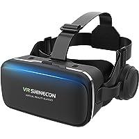 【Reira VRゴーグル】 VRヘッドセット VRヘッドマウントディスプレイ 高音質ヘッドホン付き ピント調節可 4…