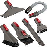Accessory Tool Kit Attachment Set with Extension Hose for Dyson V7 V8 V10 V11 SV10 SV11 Cordless Vacuum Cleaner (6 in 1)