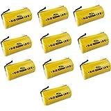 PKCELL ニッケルカドミウム電池 1.2V NI-CD SC2200mAh タブ付 フラットトップ (10本入り)