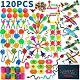 Amy&Benton 120pcs Party Favours Assortment for Kids Bulk Party Fillers Toys Loot Bag Fillers Toy Bulk Gift Toys for Boys Girl