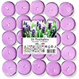 Cocod'or Scented Tealight Candles 25 Pack, Garden Lavender, 5-8 Hour Extended Burn Time, Made In Italy