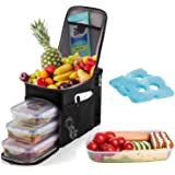 Insulated Lunch Box and Cooler Bag for Men, Women, Kids (Tote Lunch Bag Includes 3 Reusable Meal Prep Containers + 2 Ice Pack